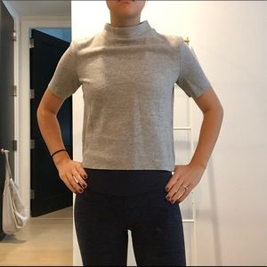 ZARA Short Sleeve Sweater in Gray